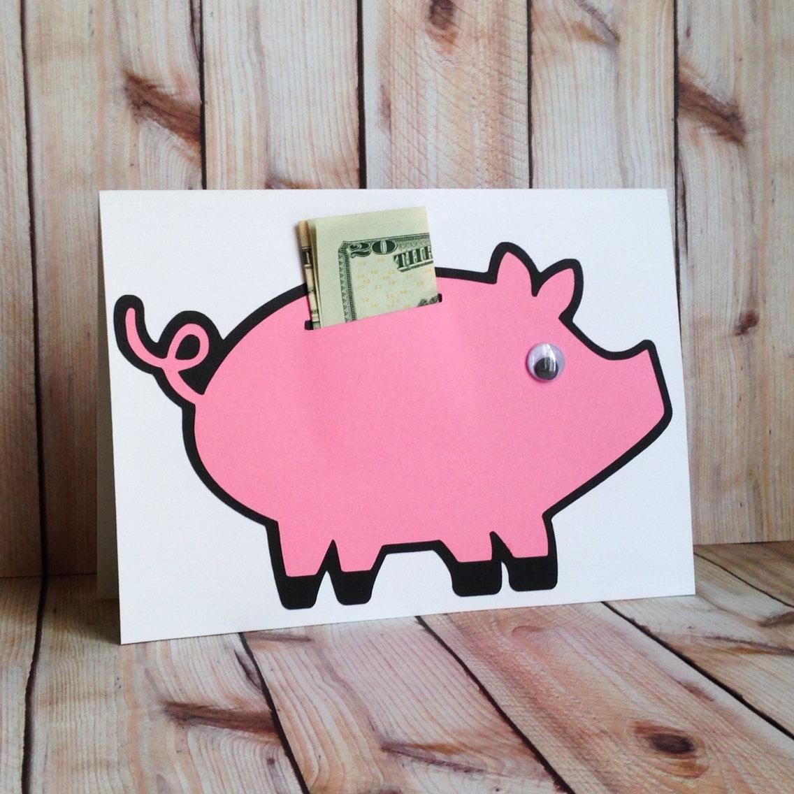 Креативная открытка для денег